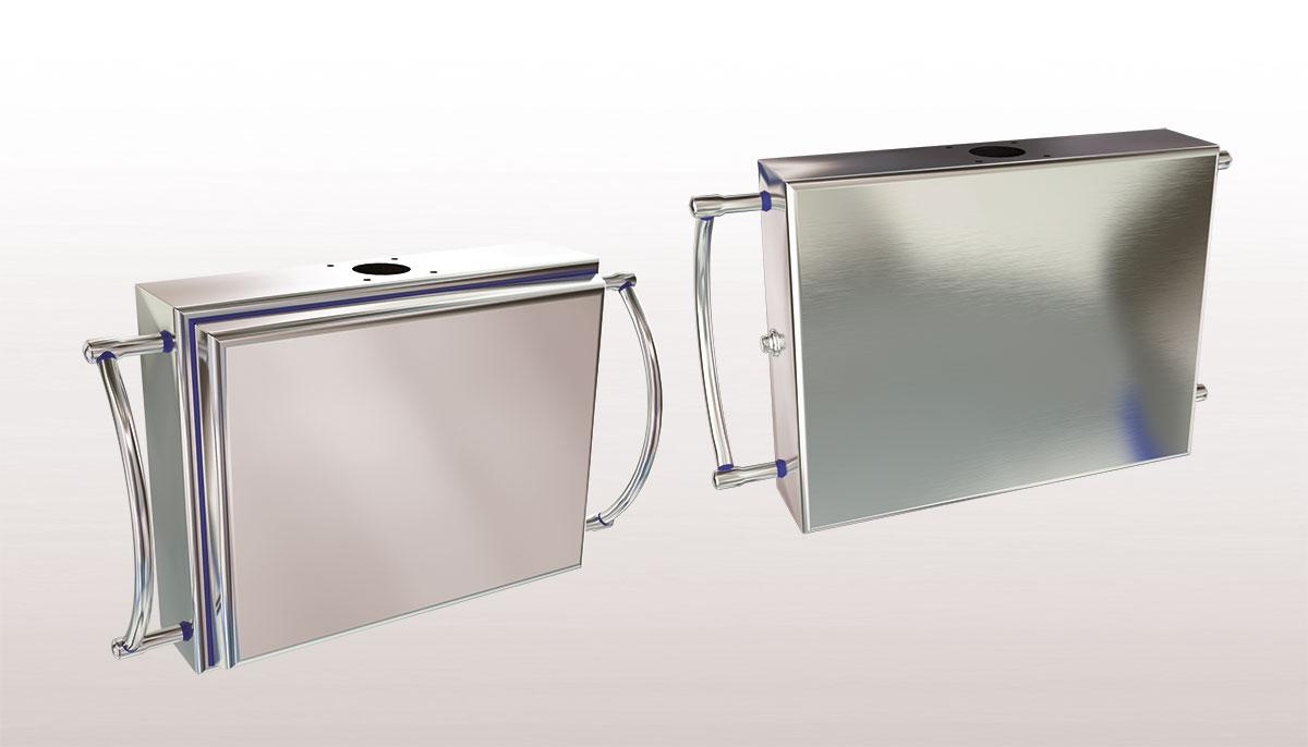 Cajas de mando para armarios eléctricos en acero inoxidable serie HYGIENIC - Ilinox Ibérica